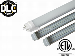 DLC ETL SAA LED T8 Tube 18W 1800lm 1200mm tube 5 Year Warranty