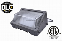 LED WALL PACK LIGHT 80W MEANWELL DRIVER ETL DLC LISTED