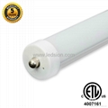 ETL T8 LED Tube 8FT 36W FA8 Single Pin