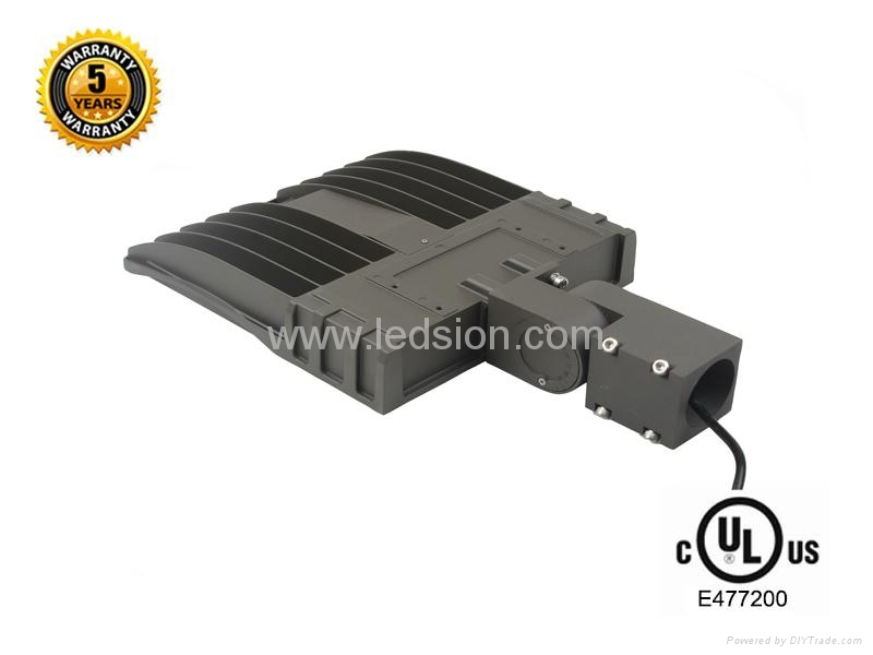 UL 150W  LED shoebox area luminaire light 4