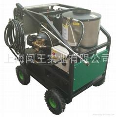 柴油机驱动高压冷热水蒸汽清洗机(重油污清洗机,除冰机)
