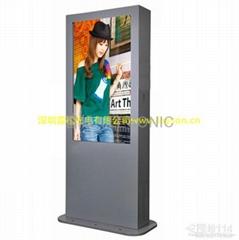 高速收費站戶外廣告機,高亮觸摸一體機,戶外站牌