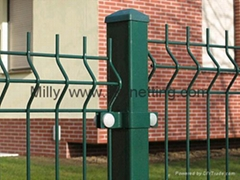 RAL6005 热镀锌PVC折弯3D护栏专业生产厂家