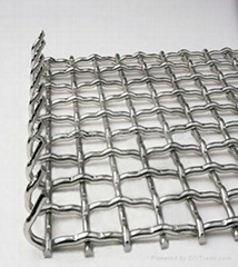 65Mn 45Mn Medium Carbon Steel Crimped Mesh with hook on both end and FLAT TOP