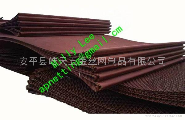 Medium Carbon Steel Wire : Mn medium carbon steel crimped mesh with hook on