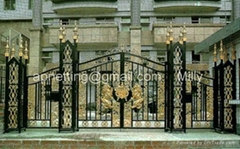 villa wrought iron gate