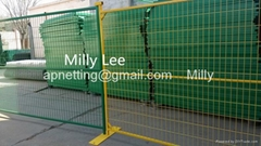 welded temporary fencing panels, anti-limb mobile panel,portable panel fence