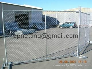 美国勾花临时护栏,移动钩花栅栏围栏,临时围栏防护栅栏 4