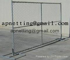美国勾花临时护栏,移动钩花栅栏围栏,临时围栏防护栅栏
