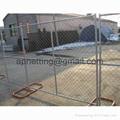 美国勾花临时护栏,移动钩花栅栏围栏,临时围栏防护栅栏 5