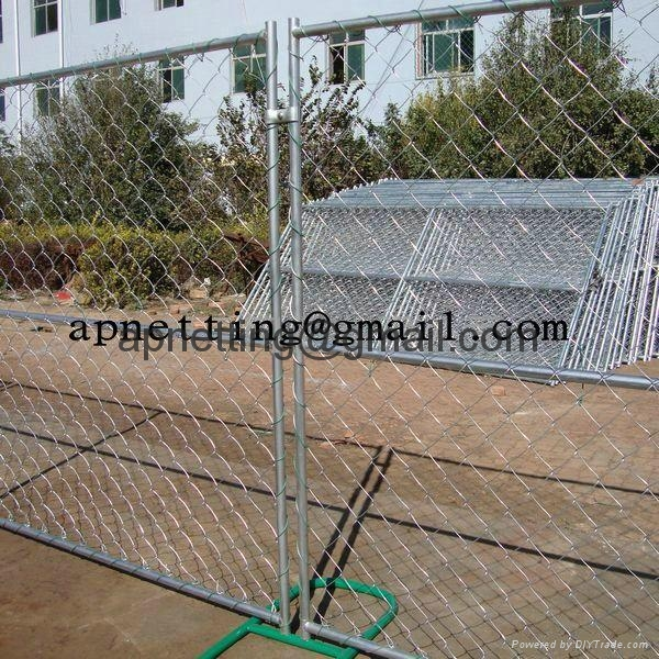 Chain link fence temporary security