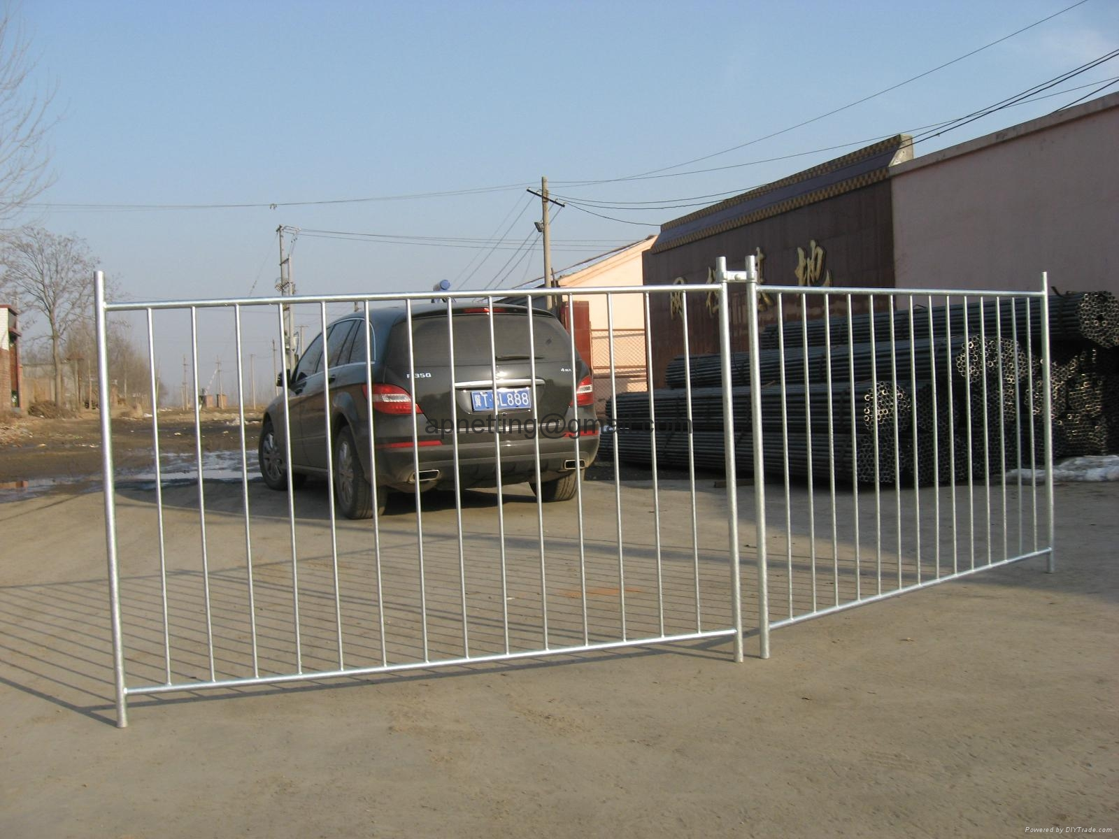 Swimming pool fence portable fencing safety event