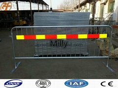3D model of a crush barrier fencewith logo/bike rack, Mills barriers