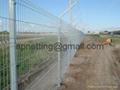 出口折弯浸塑栅栏防护护栏,可循环利用公园防护网