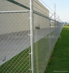 59X59 galvanized chain wire fencing/ rhombic wire mesh netting /chain link fence