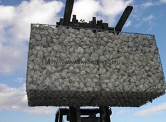 Rock netting,wire cage with rock,stone wire cage gabion,gabion walkways