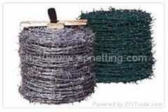 鍍鋅12x14刺繩鐵蒺藜14#x14# 刺鐵絲網 鐵蒺藜 工廠