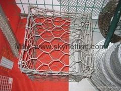 ASTM EN 标准石笼网兜专业厂家/ 防洪石笼网/护堤网