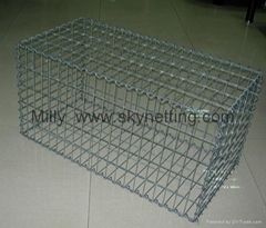 High Quality low price Zinc-aluminum Alloy Gabions welded wire gabion