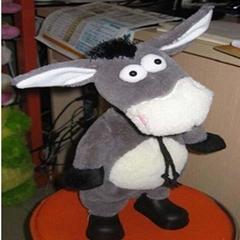 华兴快乐小毛驴/会跳舞会唱歌的小毛驴/特价毛绒玩具/毛驴玩具