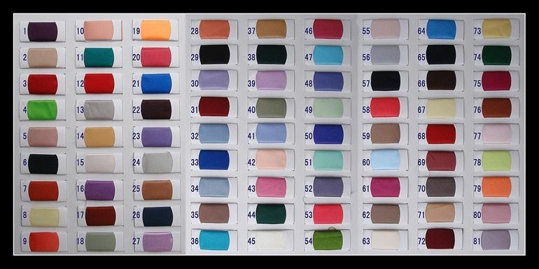 395 satin color chart