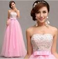 粉色鑽石抹胸韓版公主新娘婚紗禮服20
