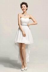 New Hotsale Sweetheart Hi Low Chiffon Party Dress Graduation Dress LF154