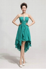 New Popular Halter Chiffon Beading Party Dress Evening Dress LF155