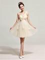 2014春夏新款單肩禮服時尚短款新娘