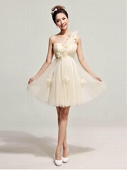 New One Shoulder Short Graduation Dress Bridesmaid Dress LF170