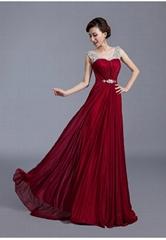 New Romantic Beading Chiffon A Line Floor Length Evening Dress LF1018