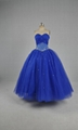Ball gown Sweetheart Beads Tulle Satin