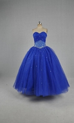 Ball gown Sweetheart Beads Tulle Satin Quinceanera Dresses YE020