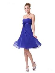 伴娘服短款裹胸雪紡伴娘禮服 結婚禮服 宴會禮服 HE03538