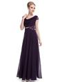 Custom Made Purple Chiffon Evening Dress