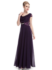 Custom Made Purple Chiffon Evening Dress Party Dress Prom Dress HE09989