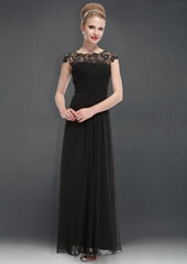 New Lace Chiffon Floor Length Evening Dress Prom Dress HE09993