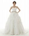 New Luxury Wedding Dress Ruffled