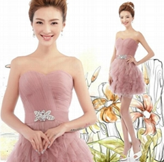 Sweetheart Short Tulle Ruffled Cocktail Dress Party Dress 9260