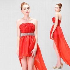 New Cheap In Stock Party Dress Cocktail Dress Evening Dress With Beading Belt 28