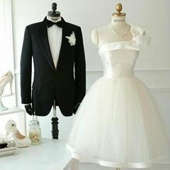 New Amazing One Shoulder Short ivory Party Dress Bridesmaid Dress 380