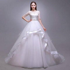 New Ball Gown Lace Satin