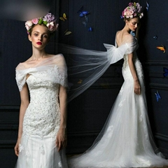 Sweetheart Strapless Lace Beading Mermaid Wedding Dress With Long Wrap IM1206 (Hot Product - 2*)