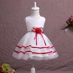 In Stock A Line Satin Organza Flower Girl Dress FL56