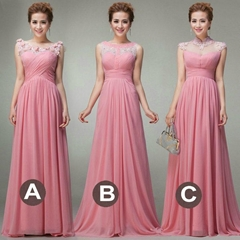 New Style A Line Chiffon Evening Dresses Floor Length Party Dress LF188