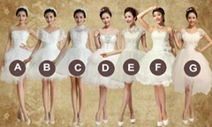 New Ivory Short Lace Party Dress Cocktail Dress Bridesmaid Dress LF202