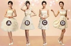 Classic Knee Length Bridesmaid dress Party Dress LF114