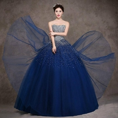 Luxury Beading Bling Bling Floor Length Ball Gown MY190