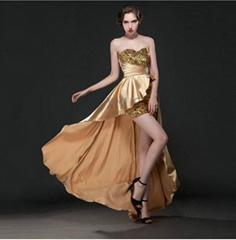 Hotsale Strapless High Low Evening Dress Party Dress Graduation Dress LS302