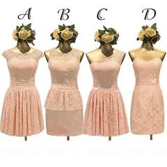 蕾絲伴娘團禮服 畢業禮服 新娘禮服 QX1062